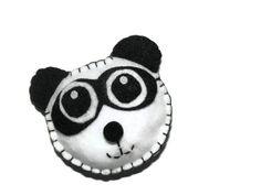 Felt Panda Catnip Toy by legendarycrochet on Etsy