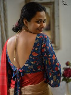 Holi Photo, Humble Design, Blue Blouse, Saree Blouse, Shoulder Sleeve, Half Sleeves, Blouse Designs, Workplace, Freedom