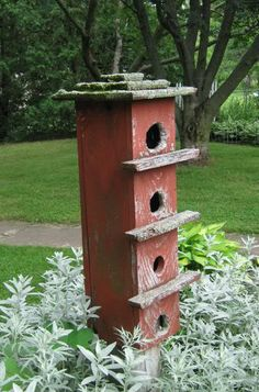 primitive bird house