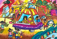 'My Dream Car' by Alfredo F.H., Aged 7, Indonesia: 3rd Contest, Bronze #KidsArt #ToyotaDreamCar