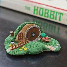 Miniature Hobbit Hole Polymer Clay Sculpture