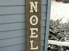 A Rustic Noel Christmas Sign
