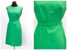 Classic 1960s green sheath dress  by ChronicallyVintage on Etsy