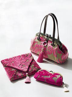 Fabric Handbags, Fabric Bags, Leather Wallet, Leather Bag, Japanese Bag, Frame Purse, Flower Bag, Handmade Bags, Beautiful Bags