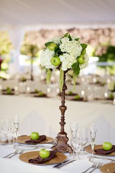 Photography by readyluck.com wedding decoration with apple