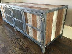 media reclaimed wood steel custom industrial media welding pinterest industrial storage and media stu2026