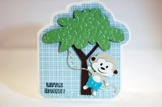 """""""Little Monkey"""" card made using DtsArt, Lettering Delights, and Make The Cut!"""