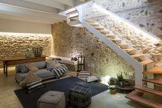 vacaciones en el pueblo reformas casas rurarles muros de piedra estilo rústico moderno estilo minimalista decoracion diseño interiores casa rural casa del pueblo blog decoración #casasminimalistas