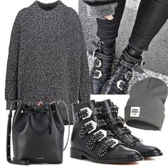 Cozy Fashion, Winter Fashion Outfits, Grunge Fashion, Autumn Winter Fashion, Booties Outfit, Grunge Outfits, Oufits Casual, Casual Outfits, Audrey Lombard