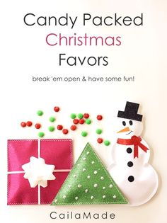 Perfect for a party! #fabulouslyfestive Christmas Favors from @Caila Murphy
