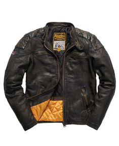 Men's Jackets For Every Occasion. Photo by Menswear Market Jackets are a must-have in the cold weather but it can also be used to accessorize an outfit. There is almost an unlimited number Men's Leather Jacket, Leather Men, Leather Jackets, Real Leather, Superdry Jackets, Men's Jackets, Casual Jackets, Cool Jackets For Men, Biker Jackets