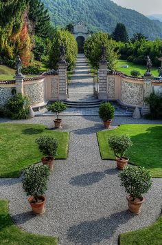 The secret garden of Villa Della Porta Bozzolo, Provincia de Varese, Italy