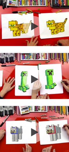 6 Easy Minecraft Drawing Tutorials for Kids *Great collection