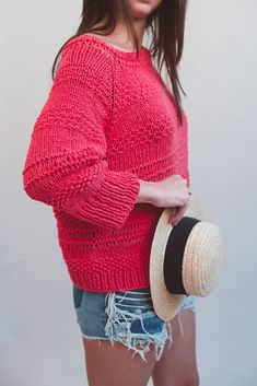 7a836d5a7e89 Tutorial  how to make a raglan sleeve sweater with our Sailorman yarn.