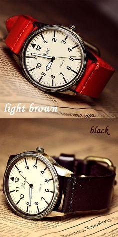 Which color do you like? fashion roman big dial leather belt retro watch #fashion #leather #retro #roman #watch