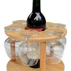 Wine bottle and glass holder Wood Wine Racks, Wine Glass Holder, Wine Bottle Holders, Non Alcoholic Wine, Wine Storage, Diy Wood Projects, Bottle Crafts, Woodworking Projects, Woodworking Bench
