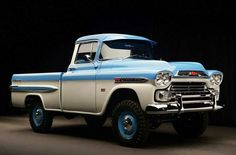 Chevrolet Pickup 4x4.    This is how a pick-up should look IMO! My favorite style and year and make!