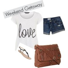 go-to summer outfit  white tshirt, denim shorts, sandals, and a neutral bag.  love