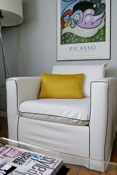 DIY chair slipcover