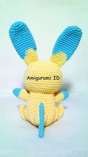 Finally, I managed to make this amigurumi. In my second pattern I'm going to show you how to make this Amigurumi Minun. Pokemon Crochet Pattern, Amigurumi Patterns, Crochet Patterns, Crochet Ideas, Ch 5, Slip Stitch, Embroidery Thread, Single Crochet, Crochet Hooks