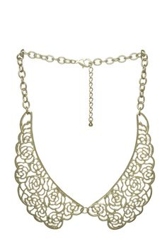 Harry and Zoe - Metal Flower Collar Necklace, $16.00 (http://www.harryandzoe.com/metal-flower-collar-necklace/)