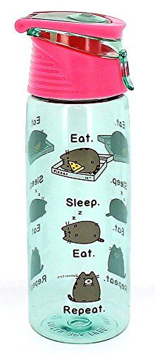 Pusheen® Water Bottle by Pusheen® and like OMG! get some yourself some pawtastic adorable cat shirts, cat socks, and other cat apparel by tapping the pi