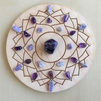 -7th Crown Chakra-Crystal Grid