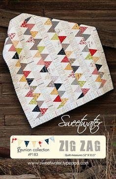♥♥♥♥ zig zag quilt pattern