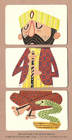 Snake Charmer | 1956 Mixies® by Ed-U-Cards