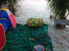 Festa infantil na praia é assim!!!