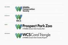 Variaciones del logotipo de la marca Wildlife Conservation Society #marca #brandgourmet