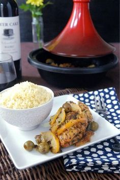 Chicken Tagine with Preserved Lemon, Green Olives, & Oregano – The Novice Chef