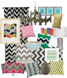 """""""Crazy for chevron"""" by designsbygenevieveinteriors ❤ liked on Polyvore"""