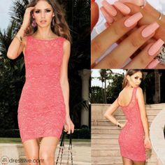 ~pink short dress~