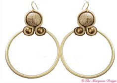 HoolaHoops #TheMarquessDesign   Soutasche large cream and gold hoops.  Available thro' the blog