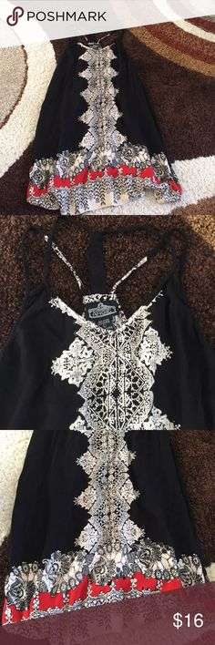 Strappy Flowy dress shift Perfect condition super cute just doesn't fit anymore. Fits M/L Dresses Mini