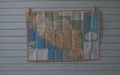 1969 Vintage Yugoslavia Map