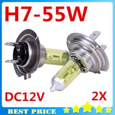 2pcs H7 Light Bulbs 3000K Halogen H7 12V 55W Golden Yellow Fog Factory Price Car Styling Parking Car Light Sourcing ** Read more  at the image link.