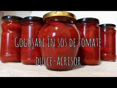 Gogosari in sos de tomate dulce acrisor - YouTube Jar, Youtube, Recipes, Food, Sweets, Salads, Recipies, Essen, Meals