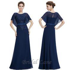 Navy blue bat sleeve evening dress.  Evening dresses for matric ball / matric farewell in Cape Town - Bridal Lane ♥