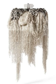 Marchesa Spring 2012 Fringe-Detailed Clutch
