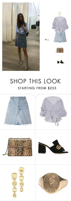 """""""on the go"""" by artizam ❤ liked on Polyvore featuring RE/DONE, Johanna Ortiz, Gucci, Marco Bicego and Effy Jewelry"""