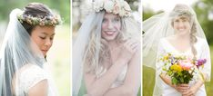 From Brideology: our blogger's favorite veils + flower crowns!