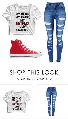 """Untitled #228"" by jazzy0124 on Polyvore featuring WithChic and Converse"