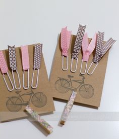 Paperclip Bookmarks With Ribbon