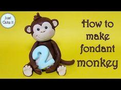 How to make a monkey cake topper / Jak zrobić małpkę z masy cukrowej - YouTube