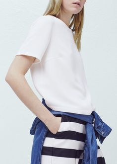 Flowy textured blouse -  Woman | MANGO
