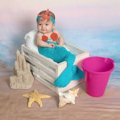 Browse unique items from janetlynnebl on Etsy, a global marketplace of handmade, vintage and creative goods. Cute Baby Boy Images, Cute Baby Names, Summer Baby Pictures, Baby Mermaid Outfit, Little Girl Costumes, Crochet Mermaid Tail, Toy Cars For Kids, Toddler Photos, Minnie