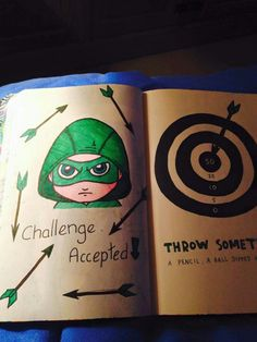 Wreck this journal, throw something at this page, 'Arrow' inspired...♥