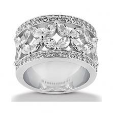 14k White Gold Womens Diamond Anniversary Or Wedding Band Containing 2.75 Carats Of Diamonds In Hi Color And Si1-si2 Clarity